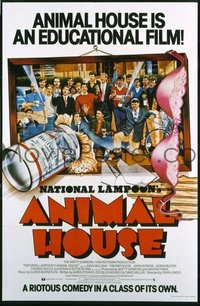 v313 ANIMAL HOUSE  English 1sh '78 Landis, cast style!