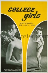 #039 COLLEGE GIRLS 1sh '70 sexploitation