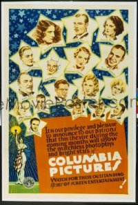 225 COLUMBIA PICTURES linen, special 1sheet