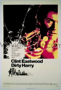 #258 DIRTY HARRY great 1sh '71 Clint Eastwood