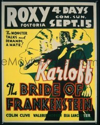 #064 BRIDE OF FRANKENSTEIN jumbo WC35 Karloff