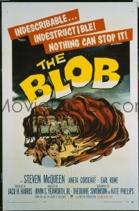 VHP7 361 BLOB one-sheet movie poster '58 classic grade Z sci-fi!, McQueen