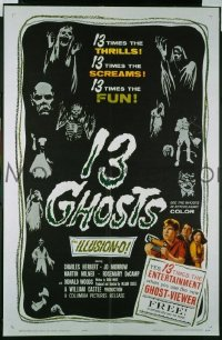 #459 13 GHOSTS special 1sh '60 Ghost Viewer!