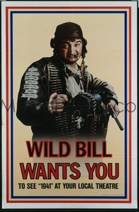 VHP7 561 1941 one-sheet movie poster '79 great Wild Bill teaser, John Belushi!