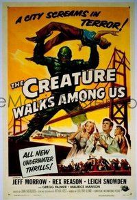 v051 CREATURE WALKS AMONG US  1sh '56 great sequel!