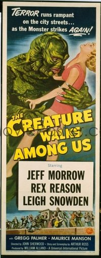 v052 CREATURE WALKS AMONG US  insert '56 great sequel!