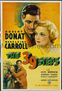 059 39 STEPS ('35) paperbacked 1sheet
