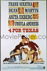 1502 4 FOR TEXAS one-sheet movie poster '64 Frank Sinatra, Dean Martin