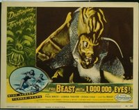 VHP7 264 BEAST WITH 1,000,000 EYES lobby card #8 '55 great closeup!