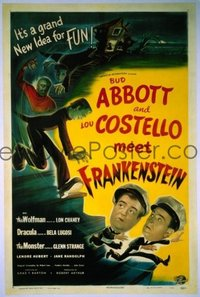 331 ABBOTT & COSTELLO MEET FRANKENSTEIN linen 1sheet