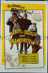 278 ABBOTT & COSTELLO MEET FRANKENSTEIN 1sheet