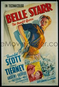 393 BELLE STARR paperbacked 1sheet