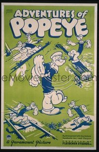 129 ADVENTURES OF POPEYE 1sheet