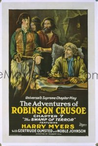 229 ADVENTURES OF ROBINSON CRUSOE ('22) linen 1sheet
