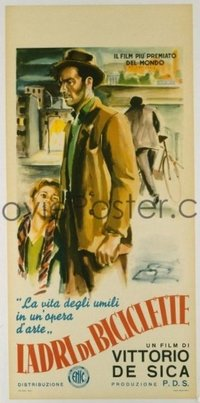 #247 BICYCLE THIEF Italian locandina movie poster R55 De Sica!