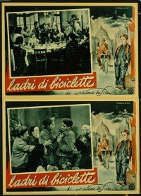#246 BICYCLE THIEF 12 Italian photobusta movie posters '48 De Sica!