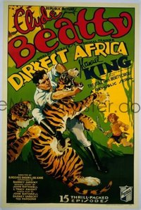 #212 DARKEST AFRICA 1sheet '36 serial, Beatty