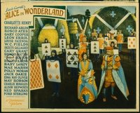 029 ALICE IN WONDERLAND ('33) #1, cards of people LC