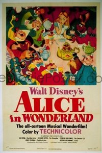035 ALICE IN WONDERLAND ('51) linen 1sheet