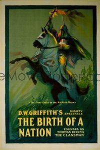 292 BIRTH OF A NATION two linen 1sheet
