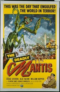 #048 DEADLY MANTIS 1sheet '57 classic sci-fi!