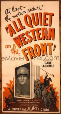 140 ALL QUIET ON THE WESTERN FRONT ('30) linen 3sh