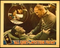 #139 ALL QUIET ON THE WESTERN FRONT lobby card '30 best scene!!