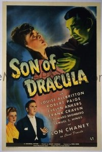 210 SON OF DRACULA ('43) linen 1sheet
