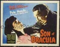 #085 SON OF DRACULA title lobby card R48 Lon Chaney Jr is Alucard!!