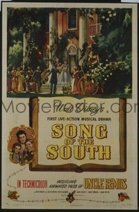 275 SONG OF THE SOUTH linen 1sheet