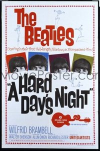 #322 HARD DAY'S NIGHT 1sheet '64 The Beatles