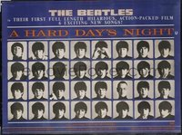 134 HARD DAY'S NIGHT linen British quad