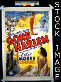 #002 GONE HARLEM 1sh '39 'all-Negro cast'
