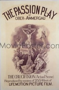 195 PASSION PLAY (1898) linen 1sheet