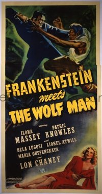 598 FRANKENSTEIN MEETS THE WOLF MAN linen 3sh