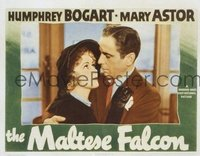 2184 MALTESE FALCON lobby card '41 best Humphrey Bogart close up!