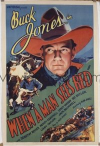 523 WHEN A MAN SEES RED ('34) linen 1sheet