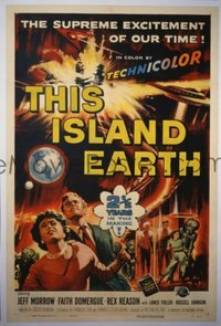 029 THIS ISLAND EARTH signed by Jack Arnold 1sheet