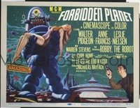 #283 FORBIDDEN PLANET title lobby card '56 best Robby the Robot image!!