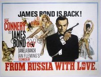 #342 FROM RUSSIA WITH LOVE British quad64Bond