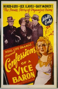 CONFESSIONS OF A VICE BARON 1sheet