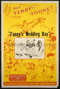 FANNY'S WEDDING DAY 1sheet
