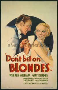 DON'T BET ON BLONDES 1sheet
