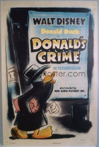 DONALD'S CRIME 1sheet