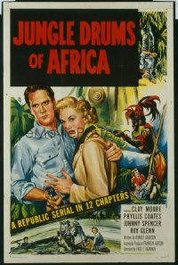 123 JUNGLE DRUMS OF AFRICA entire serial 1sheet