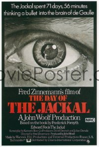 DAY OF THE JACKAL Aust 1sh