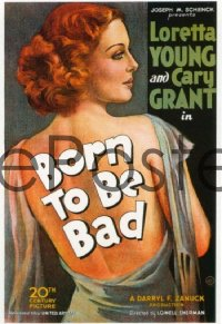 BORN TO BE BAD ('34) 1sheet