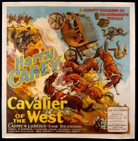 CAVALIER OF THE WEST six-sheet