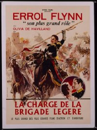 CHARGE OF THE LIGHT BRIGADE French 23x32 R60s Errol Flynn, Olivia De Havilland, Curtiz