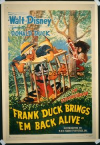 FRANK DUCK BRINGS 'EM BACK ALIVE 1sheet